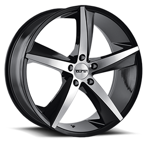 Touren Wheels TR72 5 Black Machined