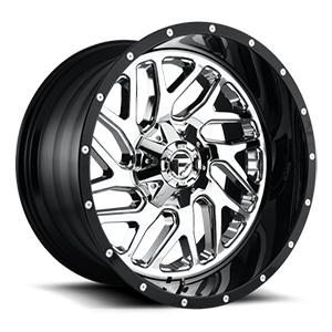 D211 TRITON Chrome Face w/ Gloss Black Lip 5 lug
