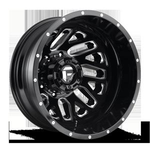 Fuel Dually Wheels Triton Dually Rear - D581 8 Gloss Black & Milled