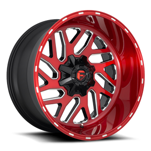 Fuel 1-Piece Wheels Triton - D691 5 Brushed Candy Red/Gloss Black/Milled