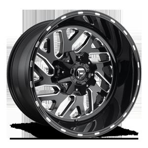 Fuel 1-Piece Wheels D581 TRITON 5 Black & Milled