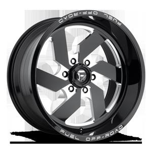 Fuel 1-Piece Wheels Turbo 6 - D582 6 Gloss Black & Milled