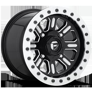 Hardline - D910 Beadlock (Lightweight Ring) Gloss Black & Milled 4 lug