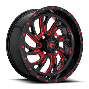 Kompressor - D642 - UTV Gloss Black w/ Candy Red 4 lug