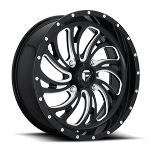 Kompressor - D641 - UTV Gloss Black & Milled 4 lug