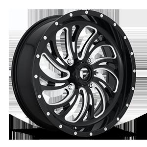 Fuel UTV Wheels Kompressor - D641 - UTV 4 Gloss Black & Milled