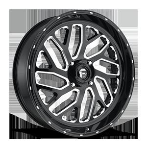 Fuel UTV Wheels Triton - D581 - UTV 4 Gloss Black & Milled