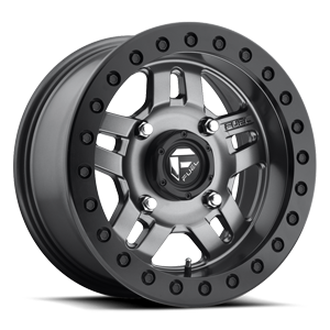Anza Beadlock - D918 - UTV Matte Anthracite w/ Black Ring 4 lug