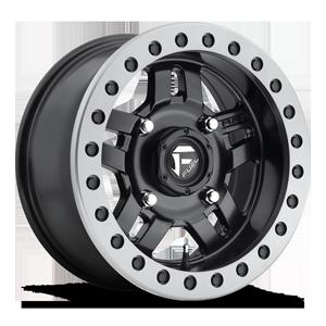 Fuel UTV Wheels Anza Beadlock - D917 - UTV 4 Matte Black w/ Anthracite Ring
