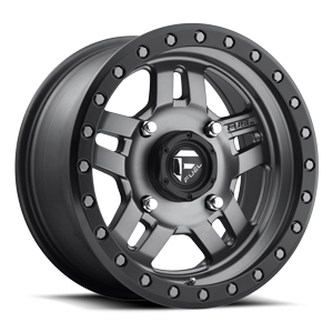 Fuel UTV Wheels Anza - D558 - UTV 4 Matte Anthracite w/ Black Ring