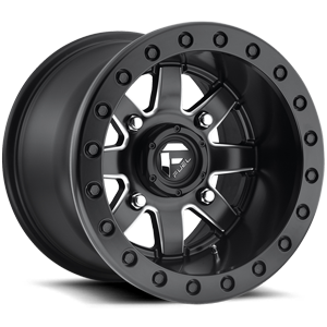 D938 MAVERICK BL - OFF ROAD ONLY Black & Milled 4 lug