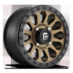 Fuel UTV Wheels Vector - D600 - UTV 4 Bronze w/ Black Ring