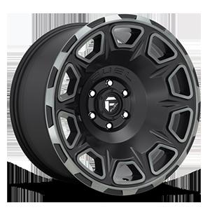 Fuel 1-Piece Wheels Vengeance - D686 6 Matte Black/Machined/DDT