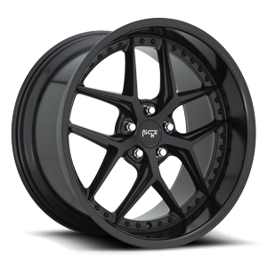 Vice - M226 Satin Black/Gloss Black 5 lug