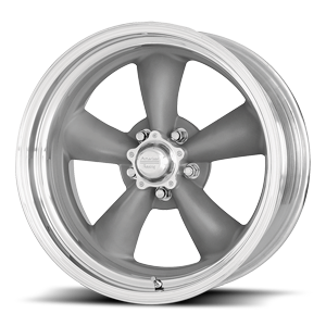 VN205 CLASSIC TORQ THRUST II Textured Grey and Polished Lip 5 lug