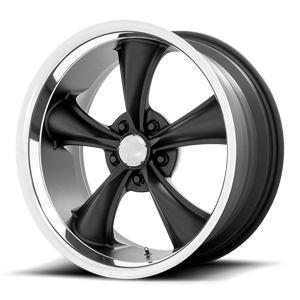 American Racing Custom Wheels VN338 Boss TT 5 Textured Black w/ Diamond Cut Lip
