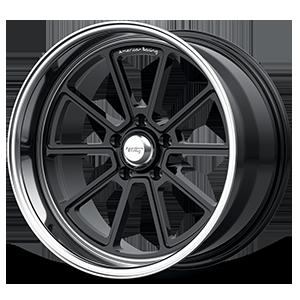 American Racing Custom Wheels VN510 5 Gloss Black with Chrome Lip