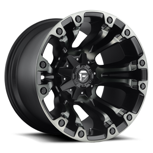 Fuel 1-Piece Wheels Vapor - D569 5 New Black w/DDT
