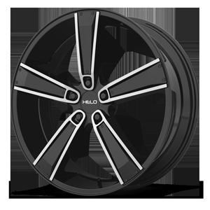 Helo Wheels HE899 5 Satin Black Machined w/ Gloss Black & Chrome Inserts