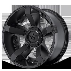 XD Wheels XD811 ROCKSTAR II 6 Matte Black w/ Accents
