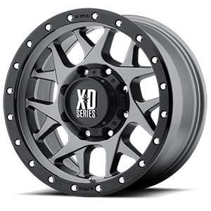 XD Wheels XD127 Bully 8 Matte Gray w/ Black Ring