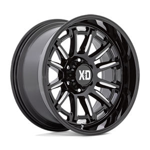 XD865 Phoenix Gloss Black Milled 6 lug
