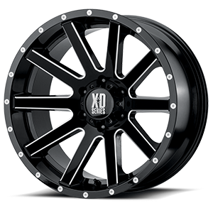 XD Wheels XD818 Heist 6 Gloss Black Milled