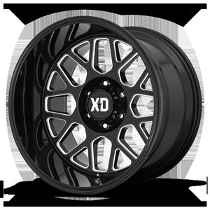 XD Wheels XD849 Grenade 2 6 Gloss Black & Milled