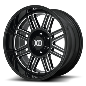 XD Wheels XD850 Cage 6 Gloss Black Milled