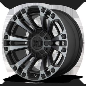 XD Wheels XD851 Monster 3 6 Gloss Black Machined w/ Gray Tint
