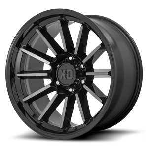 XD Wheels XD855 Luxe 6 Gloss Black Machined w/ Gray Tint