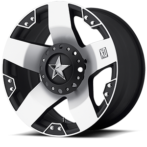 XD Wheels XD775 Rockstar 6 Machined Face w/ Black Windows