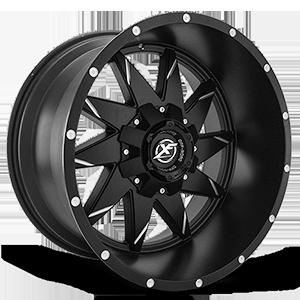 XF Off-Road XF-208 6 Gloss Black Milled - 22x12