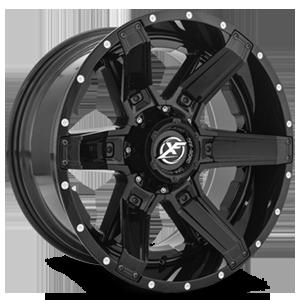 XF-214 Gloss Black w/ Gloss Black Inserts - 20x10 5 lug