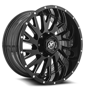 XF-221 Gloss Black Milled - 20x10 5 lug