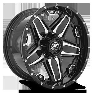 XF Off-Road XF-223 5 Gloss Black Machined - 20x10