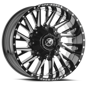 XF-226 Gloss Black Milled 5 lug