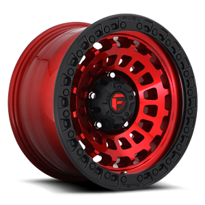 Fuel 1-Piece Wheels Zephyr - D632 5 Candy Red w/ Matte Black Ring