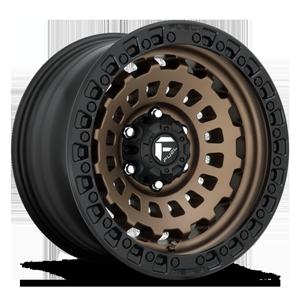 Fuel 1-Piece Wheels Zephyr - D634 [Truck] 6 Bronze w/ Black Ring