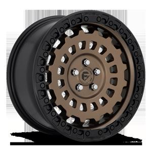 Fuel 1-Piece Wheels Zephyr - D634 [Car] 5 Bronze w/ Black Lip