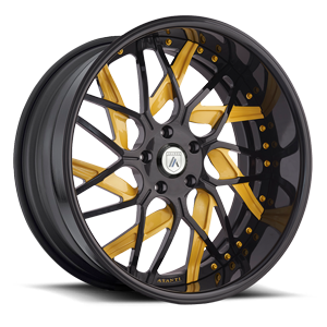 Asanti Forged Wheels A/F Series AF832 5 Black and Yellow