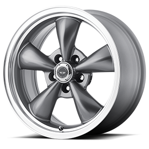 American Racing Custom Wheels AR105M Torq Thrust M 5 Anthracite w/ Machined Lip