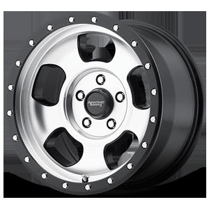 American Racing Custom Wheels AR969 Ansen Off Road 5 Machined Face w/ Satin Black Ring