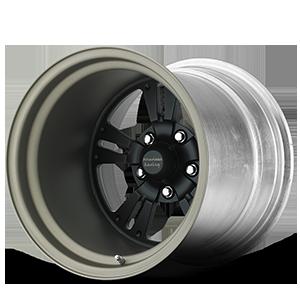American Racing Custom Wheels VF480 5 Shown with Custom Satin Black center with Titanium barrel