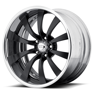 American Racing Custom Wheels VF499 5 Black w/ Chrome Lip