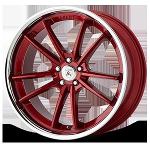 Asanti Black Label ABL-23 Sigma 5 Candy Red with Chrome Lip