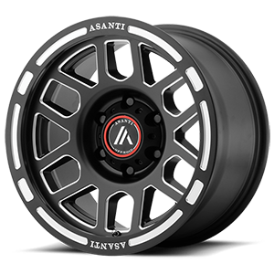 AB812 Claymore Satin Black Milled 6 lug
