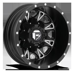 Fuel Dually Wheels Throttle Dually Rear - D513 8 Black & Milled