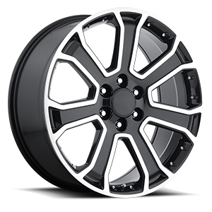 Factory Reproductions Style 49 6 Gloss Black Machined