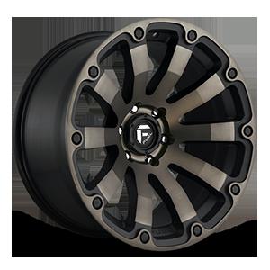Fuel 1-Piece Wheels D636 DIESEL 5 Black & Machined with Dark Tint